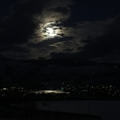 Snow moon glow on Osoyoos lake.