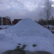 a lot of snow in Fredericton