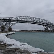 The Blue Water bridge on a cold January day.