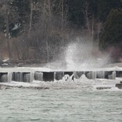 Lake Ontario waves were wild in today's winds!