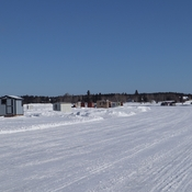 Sunny day on the Ice road, Dryden, Ontario