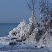 Lots of ice on the Shore of Lake Huron