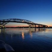 Blue Water Bridge sunset