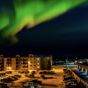Show of northern lights over