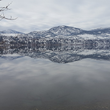 Mirror in Skaha Lake, Okanagan Falls, BC