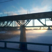 View from the Train, Edmonton, AB Tuesday, February 18, 2020