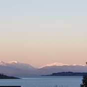 Coastal Mountains as seen from Northwest Bay Vancouver Island