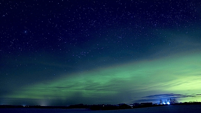 Northern Lights Lacombe County, Alberta, CA