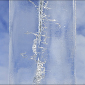 Icicle close-up, Elliot Lake.