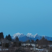 Fresh Snow on Golden Ears Mountain
