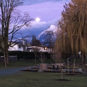 The moon and Cheam mountain.