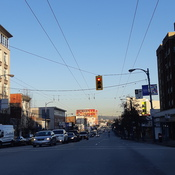 View of East Hastings Street, Vancouver BC