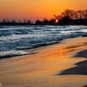 sunset at Cobourg Beach