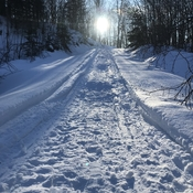 Snow road to Sun