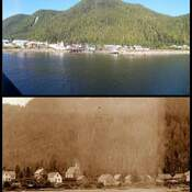 Hartley bay then and Now