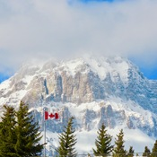 Crowsnest Mountain from Coleman, Alberta