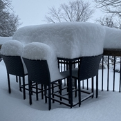 Once again, Dining outdoors is not an option today!