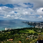 Mountain view.... Hiked to the Top of Diamond Head Crater!