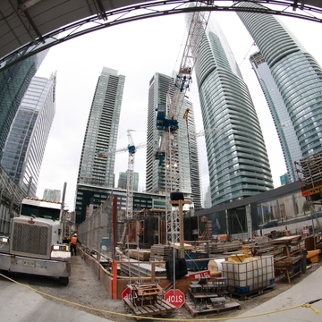 Constuction Downtown Toronto