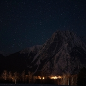 Roche on a starry night from Old Hazelton.