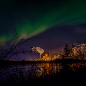 Northern lights over Syncrude.