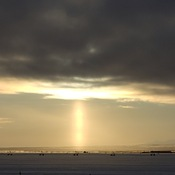 Crepuscular vs Sun Pillar
