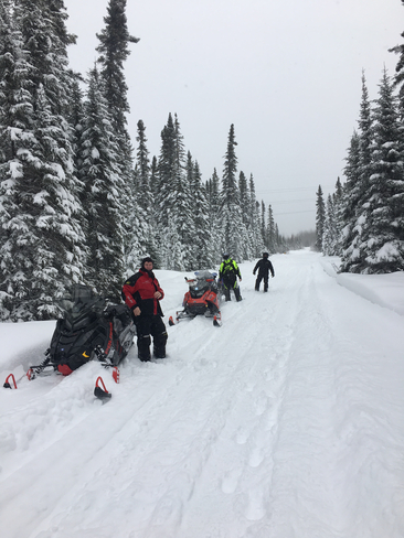 Powder ridin late March Iroquois Falls, Ontario, CA
