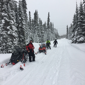 Powder ridin late March