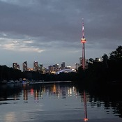 from the Toronto island ..stunning view