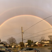 Double rainbow over Cobourg Ontario
