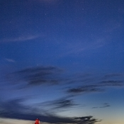 Moon And Venus Over Sandy Point Lighthouse
