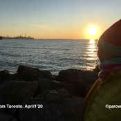 HI from Toronto on this sunny sunrise. physical distancing on the trails.