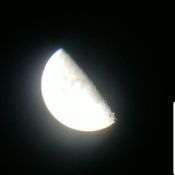 the moon tonight through a telescope