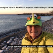 Silly Hat Weather Forecast on sunny April3