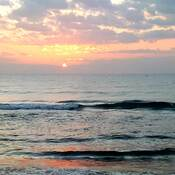 Sunrise at Mahabalipuram Beach