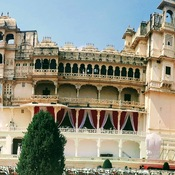 panorama of city palace, Udaipur, Rajasthan India