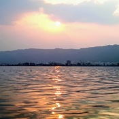 Sunset at Ana Sagar Lake at Ajmer, Rajasthan India
