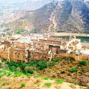 View of Jaipur City and city palace, Jaipur Rajasthan