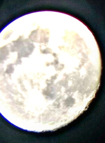 tonights moon fron the telescope Brantford, ON