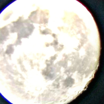 tonights moon fron the telescope