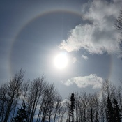 Sundog in the heavens