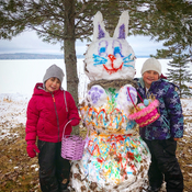 Easter Bunny Snowman of Edward Lake