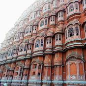 Hawa Mahal (the Palace of Winds) in the pink city of Jaipur