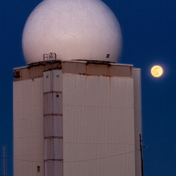 Moonrise Over Weather Radar