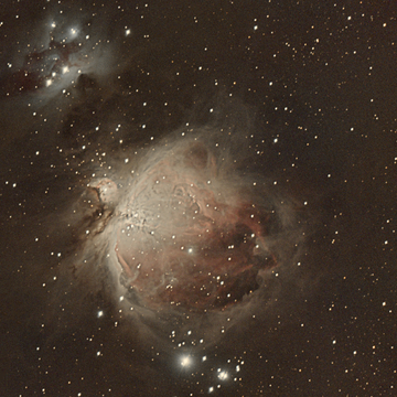 Running man and Orion Nebula