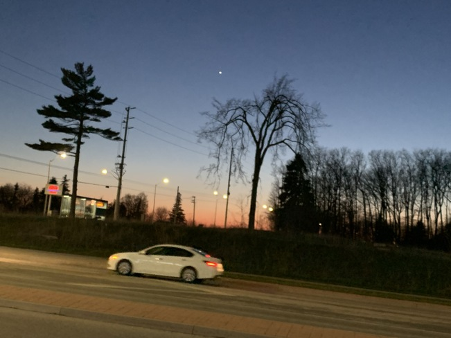 Venus in the evening sky Brampton, ON