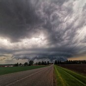 storm cell near borden