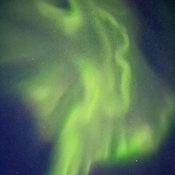 Northern lights 'angel'