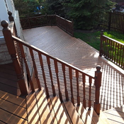 Deck sanded and stained!