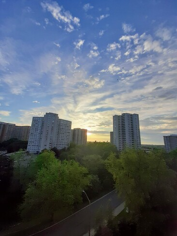 Morning sky! Kaneff Crescent, Mississauga, ON